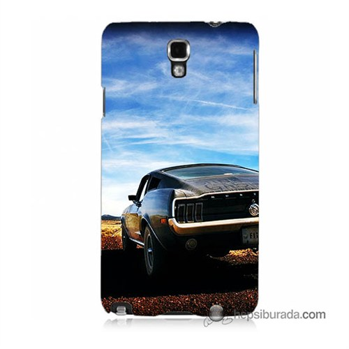 Teknomeg Samsung Galaxy Note 3 Neo Kılıf Kapak Mustang Baskılı Silikon
