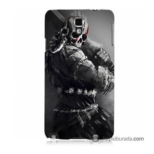 Teknomeg Samsung Galaxy Note 3 Neo Kılıf Kapak Tribal Warrior Baskılı Silikon