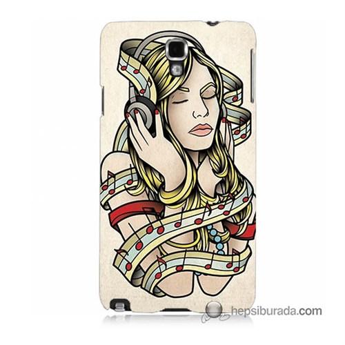 Teknomeg Samsung Galaxy Note 3 Neo Kapak Kılıf Müzik Aşkı Baskılı Silikon