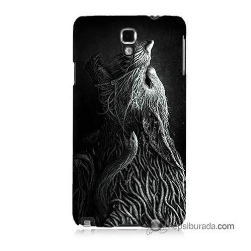 Teknomeg Samsung Galaxy Note 3 Neo Kılıf Kapak Savaşçı Kurt Baskılı Silikon