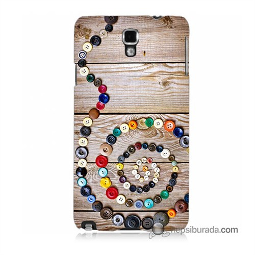 Teknomeg Samsung Galaxy Note 3 Neo Kapak Kılıf Düğmeler Baskılı Silikon