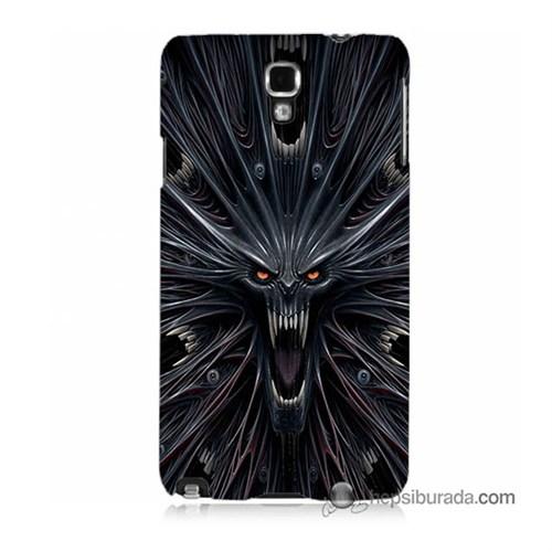 Teknomeg Samsung Galaxy Note 3 Neo Kılıf Kapak Korku Canavarı Baskılı Silikon