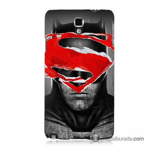Teknomeg Samsung Galaxy Note 3 Neo Kapak Kılıf Batman Vs Superman Baskılı Silikon
