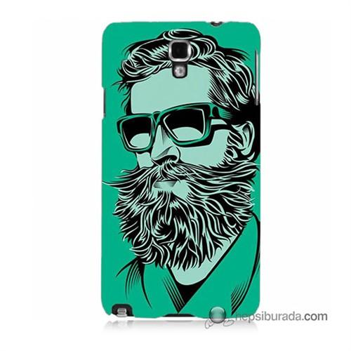 Teknomeg Samsung Galaxy Note 3 Neo Kılıf Kapak Beard Art Baskılı Silikon