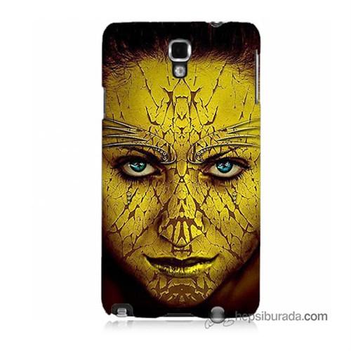 Teknomeg Samsung Galaxy Note 3 Neo Kapak Kılıf Sarı Kız Baskılı Silikon