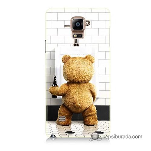 Teknomeg Samsung Galaxy Note 4 Kılıf Kapak Tedy Bear Baskılı Silikon
