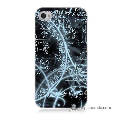Teknomeg İphone 4S Kapak Kılıf Matematik Baskılı Silikon
