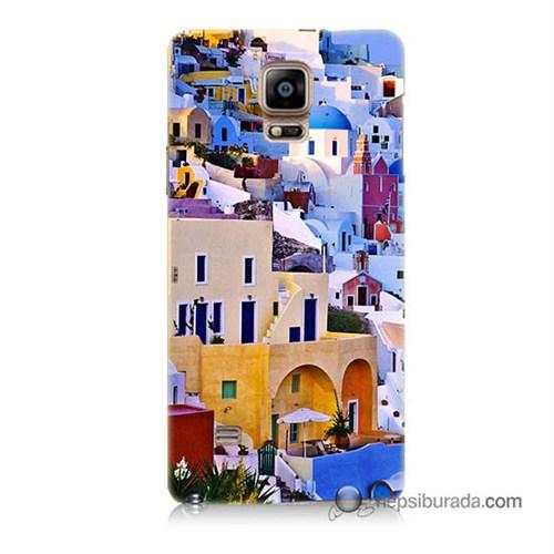 Teknomeg Samsung Galaxy Note 4 Kılıf Kapak İbiza Baskılı Silikon