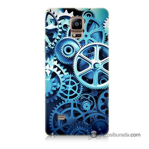 Teknomeg Samsung Galaxy Note 4 Kapak Kılıf Çarklar Baskılı Silikon