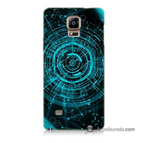 Teknomeg Samsung Galaxy Note 4 Kapak Kılıf Asit Baskılı Silikon