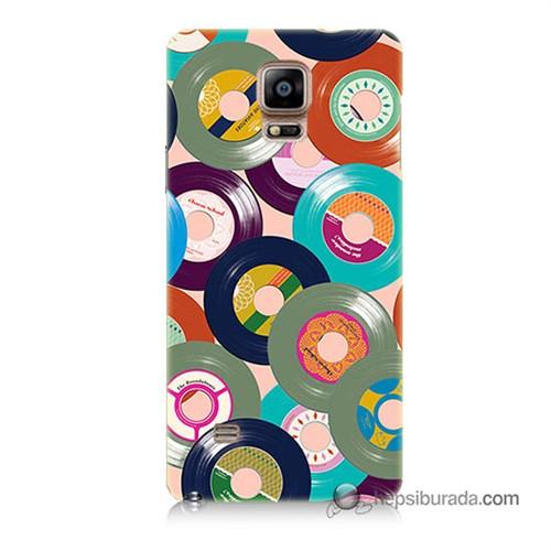 Teknomeg Samsung Galaxy Note 4 Kapak Kılıf Renkli Plaklar Baskılı Silikon