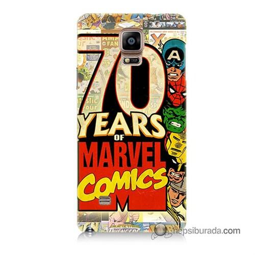 Teknomeg Samsung Galaxy Note 4 Kılıf Kapak Marvel Karakterleri Baskılı Silikon