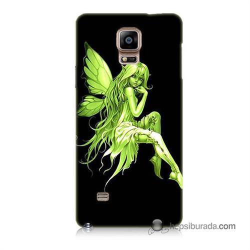 Teknomeg Samsung Galaxy Note 4 Kapak Kılıf Peri Kızı Baskılı Silikon