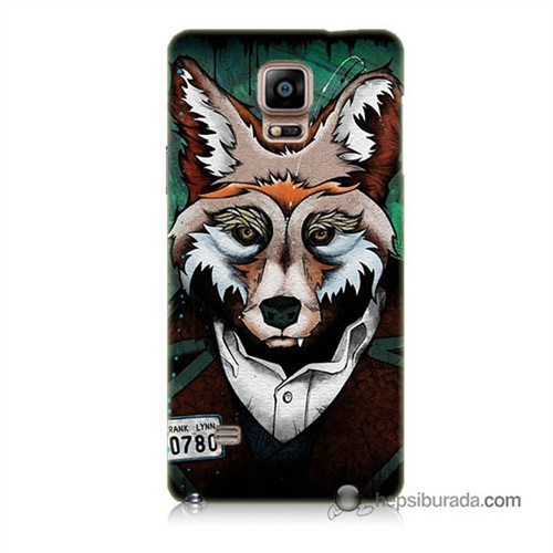 Teknomeg Samsung Galaxy Note 4 Kılıf Kapak Bad Wolf Baskılı Silikon