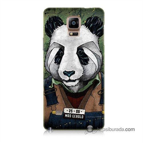Teknomeg Samsung Galaxy Note 4 Kapak Kılıf İşçi Panda Baskılı Silikon