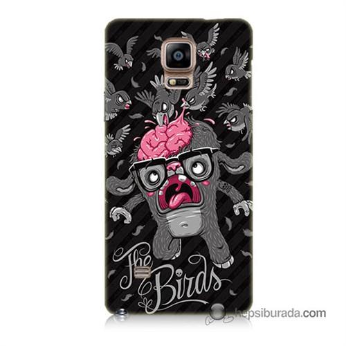 Teknomeg Samsung Galaxy Note 4 Kılıf Kapak The Birds Baskılı Silikon