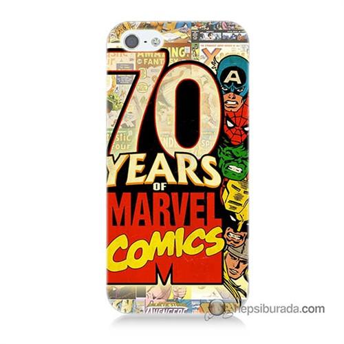 Teknomeg İphone 5 Kılıf Kapak Marvel Karakterleri Baskılı Silikon
