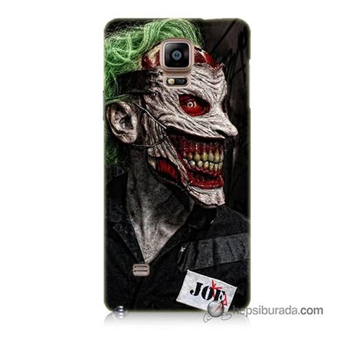 Teknomeg Samsung Galaxy Note 4 Kapak Kılıf Joker Joe Baskılı Silikon