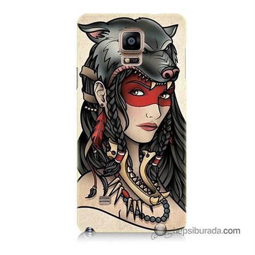 Teknomeg Samsung Galaxy Note 4 Kapak Kılıf Pocahontas Baskılı Silikon