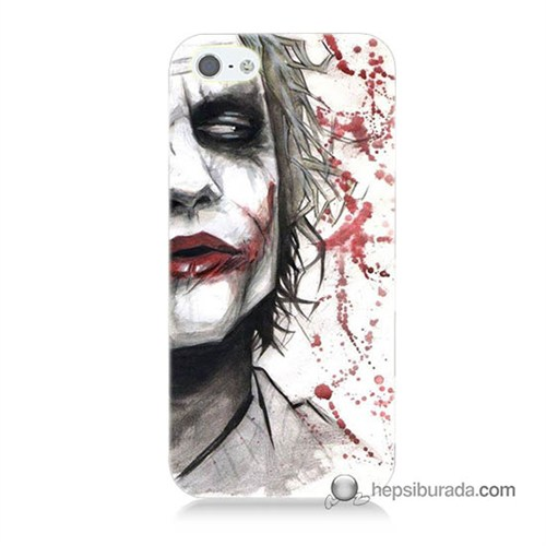 Teknomeg İphone 5 Kapak Kılıf Kanlı Joker Baskılı Silikon