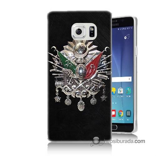 Teknomeg Samsung Galaxy Note 5 Kapak Kılıf Osmanlı Baskılı Silikon