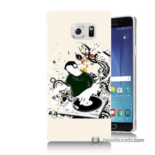 Teknomeg Samsung Galaxy Note 5 Kılıf Kapak Disc Jokey Baskılı Silikon