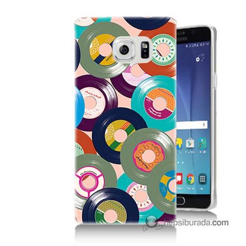 Teknomeg Samsung Galaxy Note 5 Kapak Kılıf Renkli Plaklar Baskılı Silikon