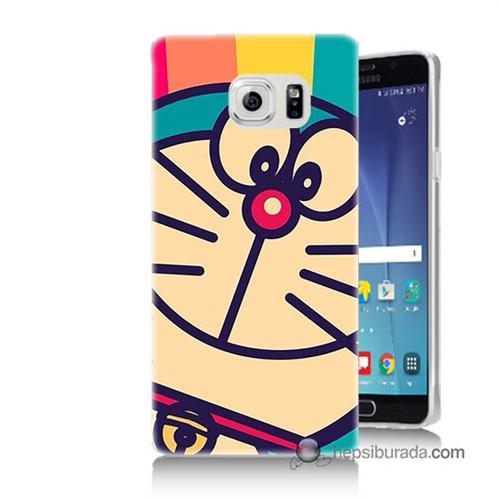 Teknomeg Samsung Galaxy Note 5 Kapak Kılıf Hırçın Kedi Baskılı Silikon