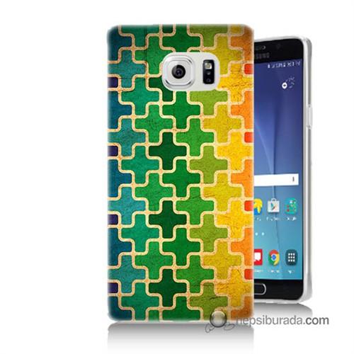Teknomeg Samsung Galaxy Note 5 Kapak Kılıf Renkli Artı Baskılı Silikon