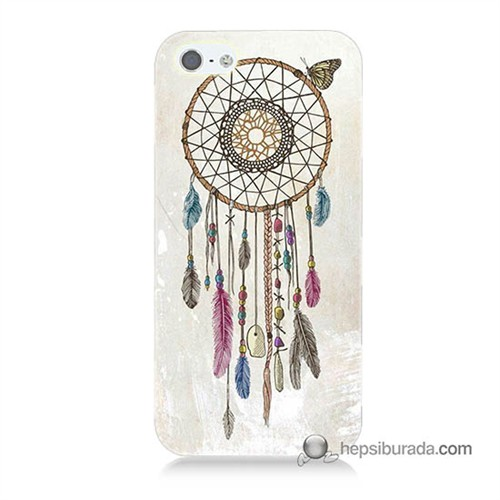 Teknomeg İphone 5S Kapak Kılıf Dream Catcher Baskılı Silikon