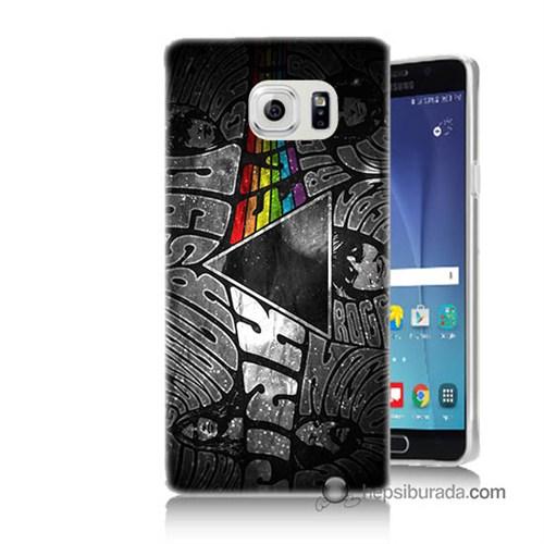 Teknomeg Samsung Galaxy Note 5 Kapak Kılıf Pink Floyd Baskılı Silikon