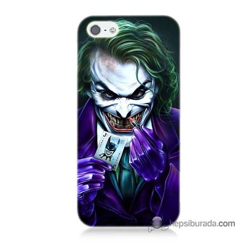 Teknomeg İphone 5S Kapak Kılıf Joker Baskılı Silikon