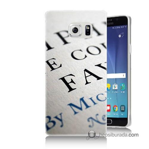 Teknomeg Samsung Galaxy Note 5 Kapak Kılıf Yazılar Baskılı Silikon