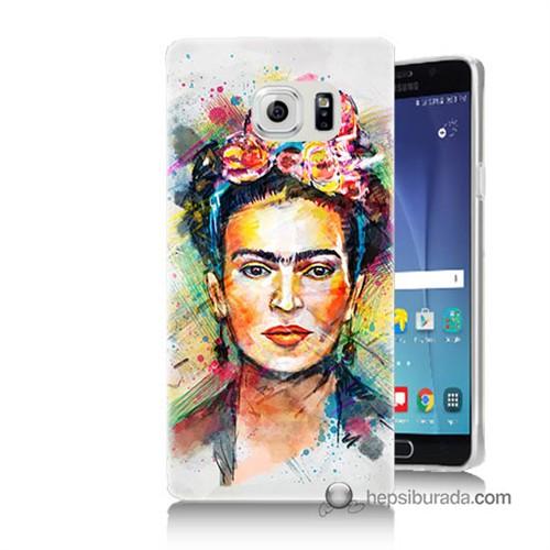 Teknomeg Samsung Galaxy Note 5 Kapak Kılıf Frida Baskılı Silikon