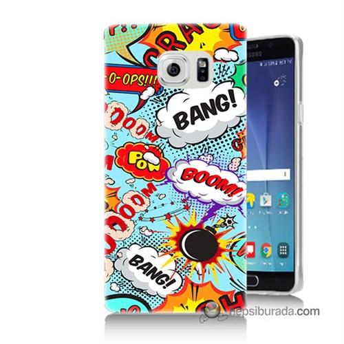 Teknomeg Samsung Galaxy Note 5 Kılıf Kapak Savaş Efektleri Baskılı Silikon