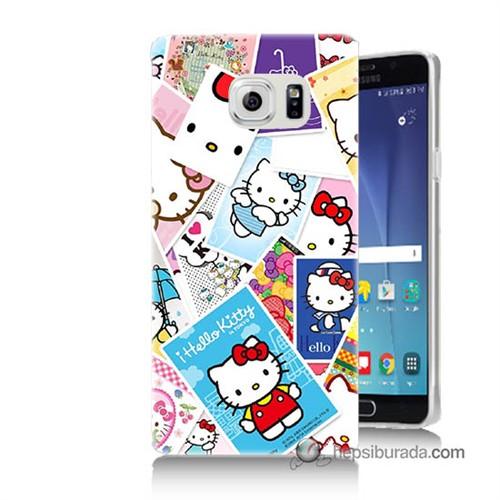 Teknomeg Samsung Galaxy Note 5 Kapak Kılıf Hello Kity Resimleri Baskılı Silikon