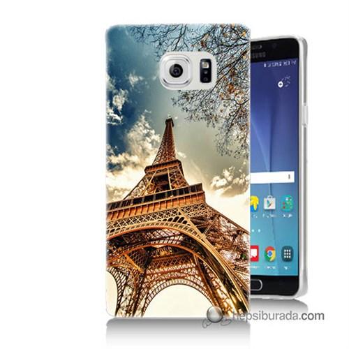Teknomeg Samsung Galaxy Note 5 Kapak Kılıf Eyfel Kulesi Baskılı Silikon