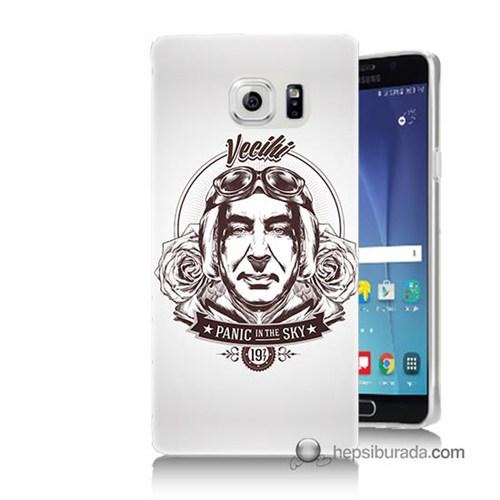 Teknomeg Samsung Galaxy Note 5 Kılıf Kapak Vecihi Baskılı Silikon