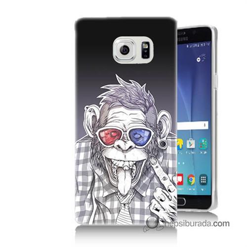 Teknomeg Samsung Galaxy Note 5 Kapak Kılıf Maymun Baskılı Silikon