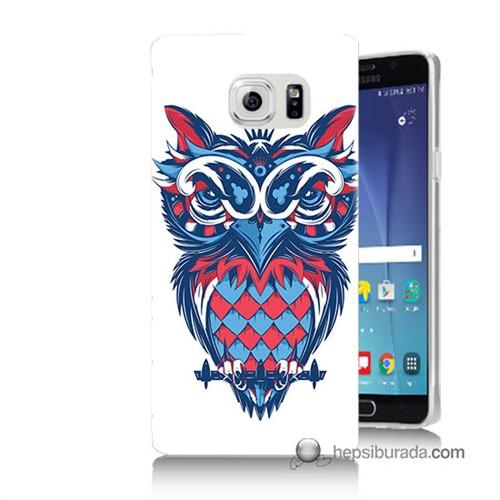 Teknomeg Samsung Galaxy Note 5 Kılıf Kapak Renli Baykuş Baskılı Silikon