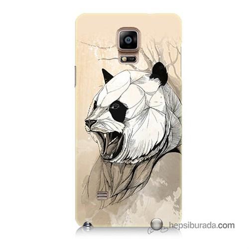 Teknomeg Samsung Galaxy Note 4 Kapak Kılıf Kavgacı Panda Baskılı Silikon