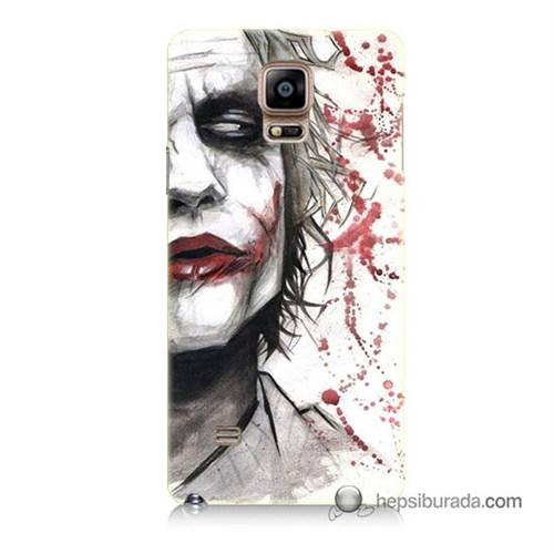 Teknomeg Samsung Galaxy Note 4 Kapak Kılıf Kanlı Joker Baskılı Silikon