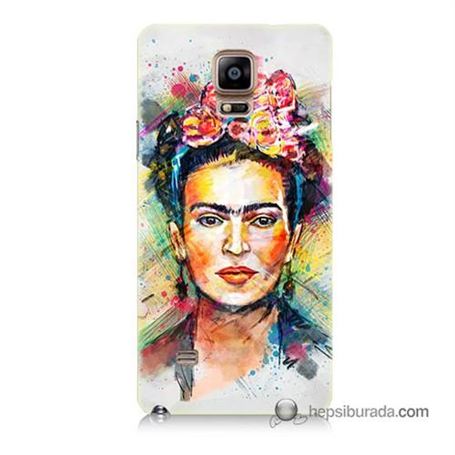 Teknomeg Samsung Galaxy Note 4 Kapak Kılıf Frida Baskılı Silikon