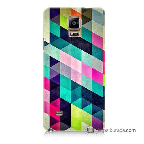 Teknomeg Samsung Galaxy Note 4 Kılıf Kapak Mozaikler Baskılı Silikon