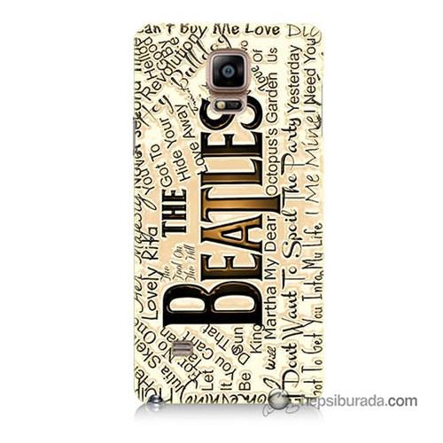 Teknomeg Samsung Galaxy Note 4 Kılıf Kapak The Beatles Baskılı Silikon