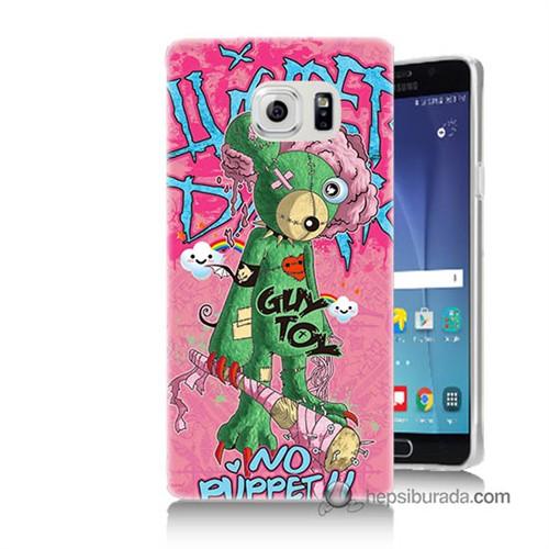 Teknomeg Samsung Galaxy Note 5 Kılıf Kapak Psikopat Ayıcık Baskılı Silikon
