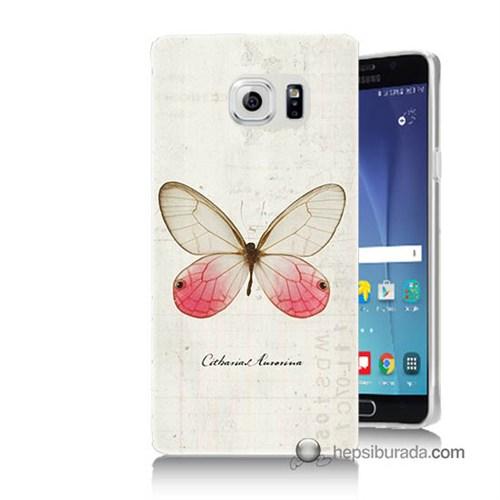Teknomeg Samsung Galaxy Note 5 Kapak Kılıf Kelebek Etkisi Baskılı Silikon
