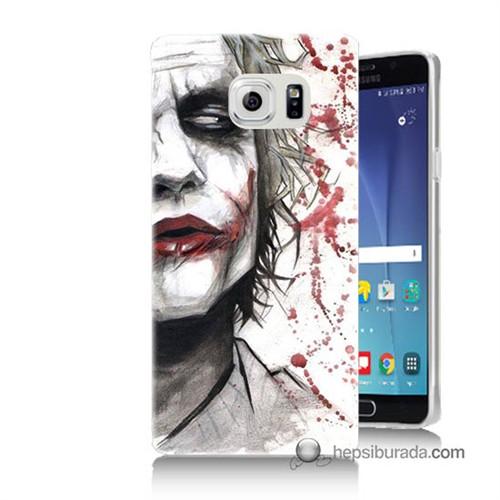 Teknomeg Samsung Galaxy Note 5 Kapak Kılıf Kanlı Joker Baskılı Silikon