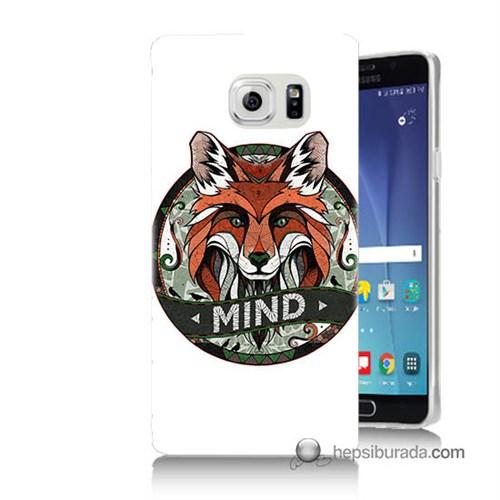 Teknomeg Samsung Galaxy Note 5 Kapak Kılıf Zeki Tilki Baskılı Silikon