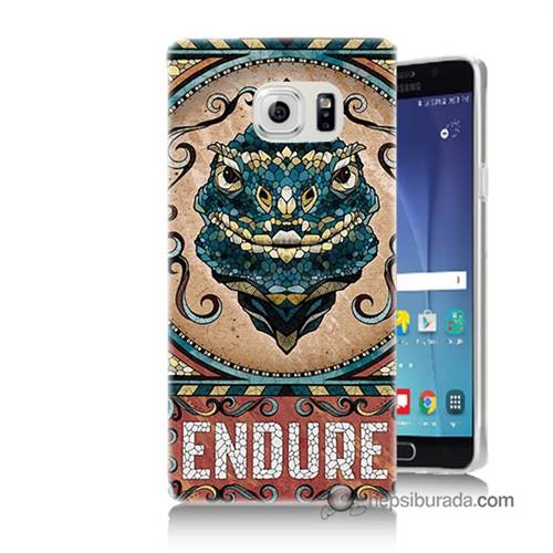 Teknomeg Samsung Galaxy Note 5 Kılıf Kapak Endure Baskılı Silikon